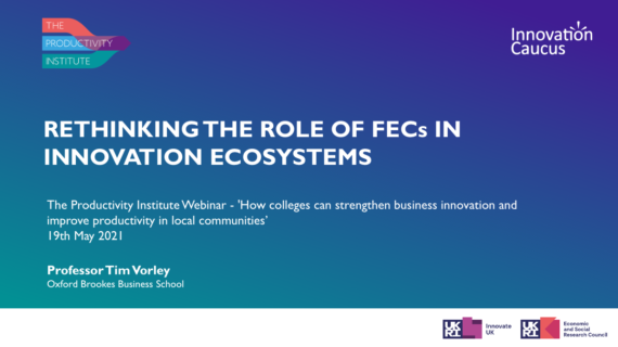 New Video: Rethinking the Role of Further Education Colleges in Innovation Ecosystems image